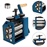 DONNGYZ Jewelry Combination Rolling Mill Machine,75mm Diameter Rollers Manual Rolling Mill Machine Jewelry Marking Tools for Jewelers and Crafts(US Stock)