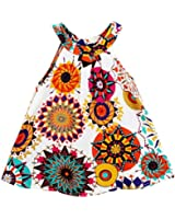 ZANZEA Kid Girls Summer Casual Printed Floral Dress
