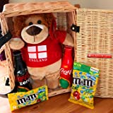 Come on England World Cup Brazil England Plush Lion, Coca Cola & Coke Zero Bottles and M&M's Limited Edition Hamper - By Moreton Gifts