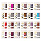 SHANY Cosmetics No Dry Time Mega Collection of Instant Nail Enamel Strips Hot Assorted Colors 22 Count