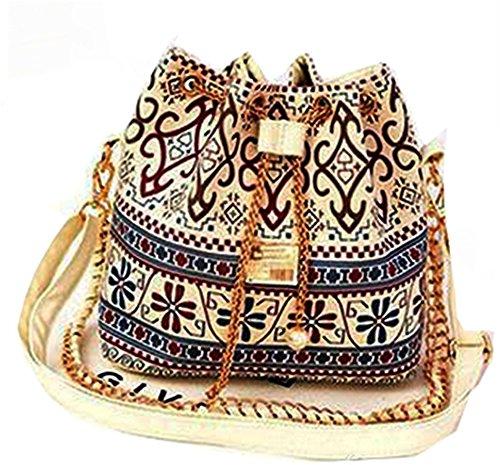 Newtronics Stylish Knitted Pearl Chain PU Leather Shoulder Sling Handbag  Satchel Clutch Women s Tote Purse with ff9fa017f73b0
