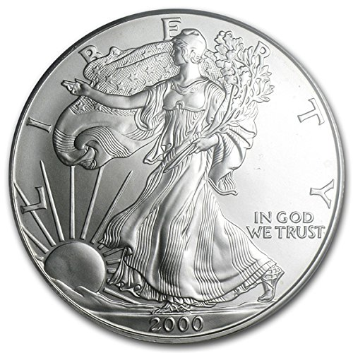 2000 - 1 Oz American Silver Eagle .999 Fine Silver Dollar Uncirculated Us Mint