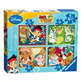 Jake & The Neverland Pirates Neverland Pirates 4 In A Box Puzzle