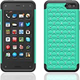 Fire Phone Case, [Star Bling] Case for Amazon Fire Phone, For Girls & Women [Emerald Mint] - Dual Layer Protection [Soft Hard Tough Case] Stylish 2014 Luxury Design - Premium Custom Slim Fit