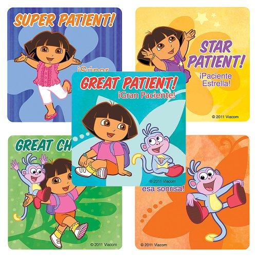 Dora the Explorer Medical Stickers - 75 Per Pack