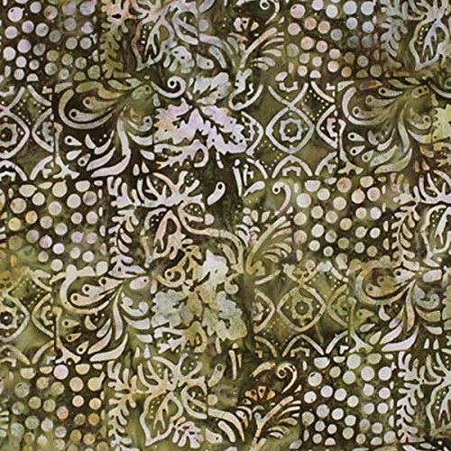 Anthology Batiks 2014 Green Tea Frappuccino Brown Caramel Berry Vines