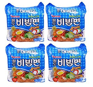 BIBIM MEN Oriental Style Noodle, Spicy Cold(Mi Kho Dai Han) Multi Package(5 packs) X 4 by Paldo