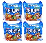 BIBIM MEN Oriental Style Noodle, Spicy Cold(Mi Kho Dai Han) Multi Package(5 packs) X 4
