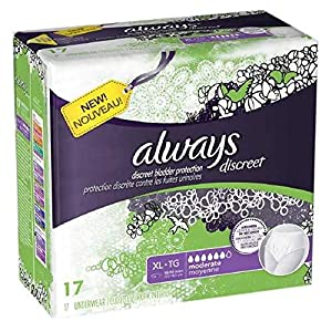 Always Discreet Incontinence Underwear, Maximum Absorbency, Extra-Large from Always Discreet