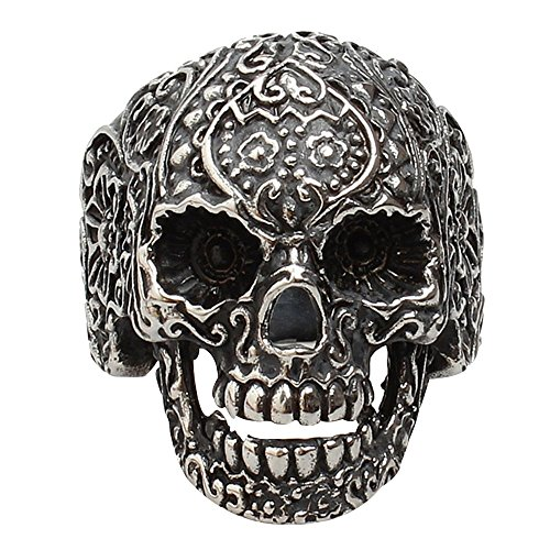conteverr-316l-stainless-steel-fashion-jewelry-men-punk-floral-skull-biker-ring-size-10