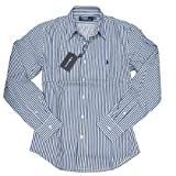Polo Ralph Lauren ラルフローレン シャツ 長袖シャツ ドレスシャツ ブルーストライプ レギュラーカラー 2サイズ 並行輸入品 VITA264