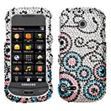 MyBat Bubble Flow W/ Full +Stone Back Cover case for Samsung Eternity II A597