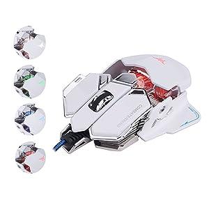 VersionTech Combaterwing ゲーミングマウス 有線マウス USBマウス