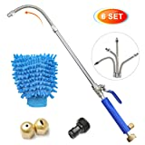 CAVEEN Jet Car Washer Power Hose Nozzle, Magic High Pressure Wand, Flexible Water Hose Nozzle Sprayer Extendable Home Garden Car Washing Glass Window Cleaning (Type B) (Tamaño: Type B)