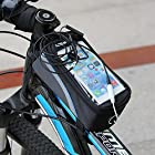 Bike Bicycle Frame Front Cool Outdoor Waterproof Tube Bag Phone Case Cover For Huawei Smart Mobile Phones (Huawei Ascend Y M866/H866C, Blue)