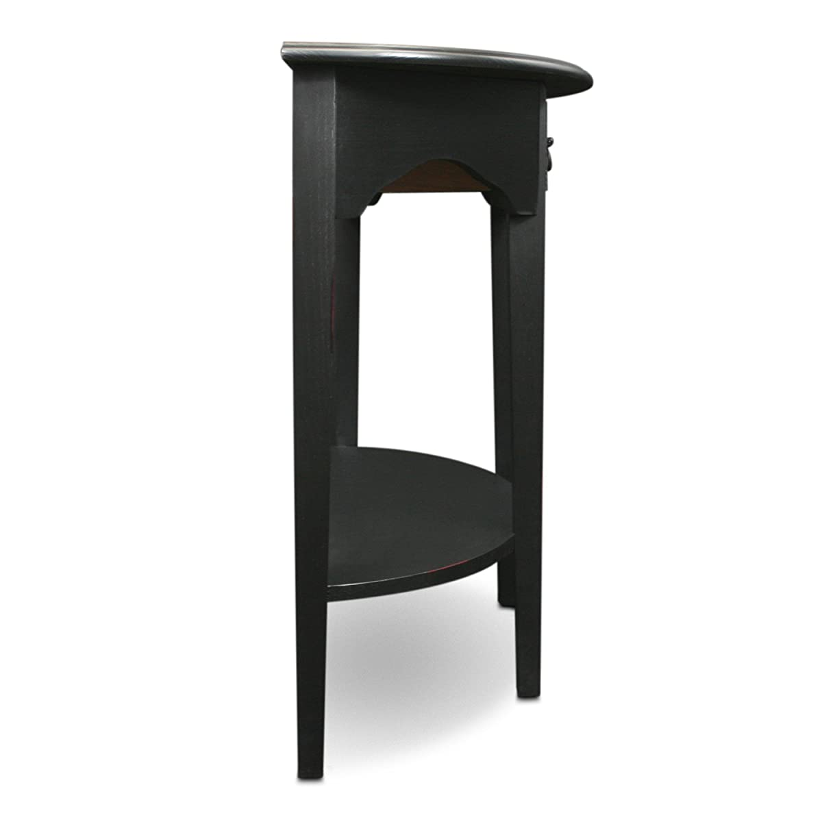 Leick Demilune Console Table - Slate Black