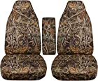 2004-2012 Ford Ranger/2004-2009 Mazda B Series Camo Truck Bucket Seat Covers with Center Armrest Cover: Wetland Camo (16 Prints Available)