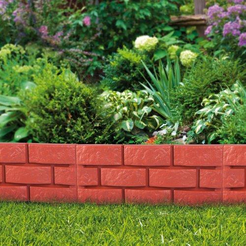 Bordura effetto muretto set 4 pezzi for Bordura giardino