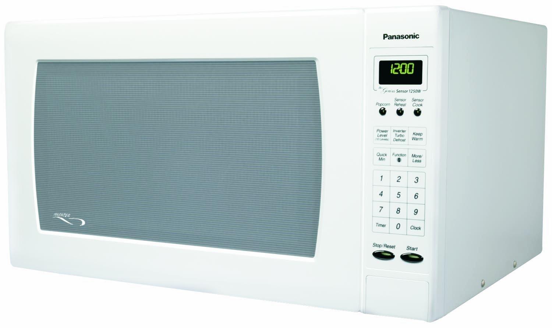 Panasonic NN-H765WF, 1.6cuft 1250 Watt Sensor Microwave Oven, White