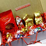The Lindt Christmas Treat Box- Santa, Reindeer, Gold Bear, Melting Moment and Truffles - Stocking Filler, Gift - By Moreton Gifts