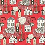 Red / Taupe / Black - 212443 - Jubilee Square - Options 11 - Sanderson Wallpaper