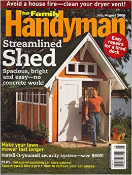 the family handyman july august 2008 issue editors of the family handyman magazine. Black Bedroom Furniture Sets. Home Design Ideas