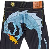Yoropiko Sky Blue Hungry Dragon denim jeans YORO3684