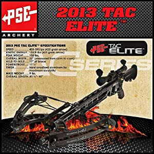 PSE 01207 Archery TAC Elite Crossbow, Black Finish by PSE