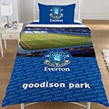 Everton Football Club Goodison Park Official Single Duvet Cover Bedding Set (Single Bed) (Blue)