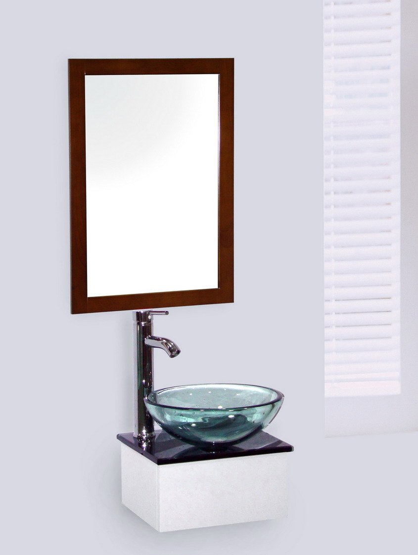 Design Glas Becken Waschtisch Waschbecken mit Unterbau Handwaschbecken 8510 OVP   Kundenbewertungen