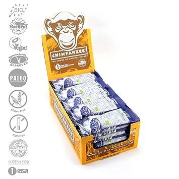 Chimpanzee Protein RAWkost Riegel Datteln Vanille 25 Stuck - BIO Roh Paleo Vegan Glutenfrei Superfood Rohkost Proteinriegel - 45g x 25 Stuck