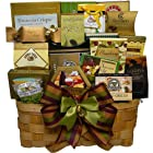 SCHEDULE YOUR DELIVERY DAY! Super Snack Sampler Gourmet Food Gift Basket with Smoked Salmon