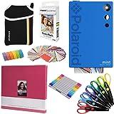 Polaroid Mint Instant Digital Camera (Blue) Art Bundle + Paper (20 Sheets) + 8x8 Cloth Scrapbook + Pouch + 12 Twin Tip Markers + 100 Border Stickers + 6 Decorative Scissors + Washi Tape (Color: Blue)