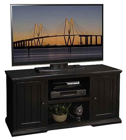 53.75 in. TV Cabinet in Rustic Black Finish