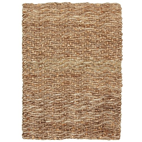 Anji Mountain Bamboo Chairmat & Rug Co. 5-Foot-by-8-Foot Kashmir Rug Featuring Coir and Jute