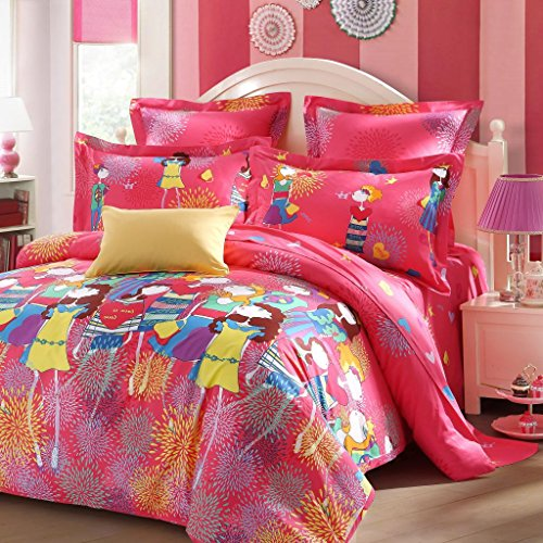 LOVO-Kids-Series-Bedding-Sets-Duvet-Cover-Flat-Sheet-Shams