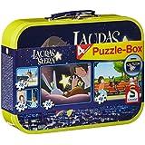 Schmidt Spiele 55591 - Lauras Stern, Puzzle-Box 2x26, 2x48 Teile Puzzle im Metallkoffer