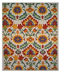 LA Rug Botticelli Abstract Geometric Area Rug (5 by 8 Foot) 500-01-0508