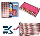Retro Metro MAGENTA PINK & GREEN  Ekatomi™ Compatible W/ Nokia Lumia 822 Wristlet Phone Case Holder