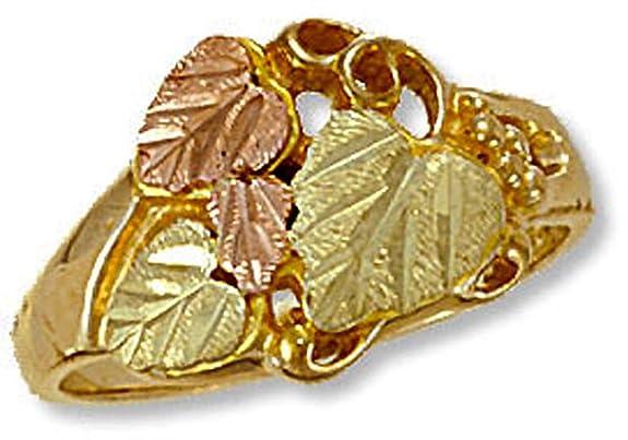 Landstroms-Ladies-Black-Hills-Gold-Ring-with-Leaves-Grapes-D2015