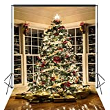 OUYIDA 6X9FT Christmas Tree Decorating Seamless Pictorial cloth Customized photography Backdrop Background studio prop CEM03B