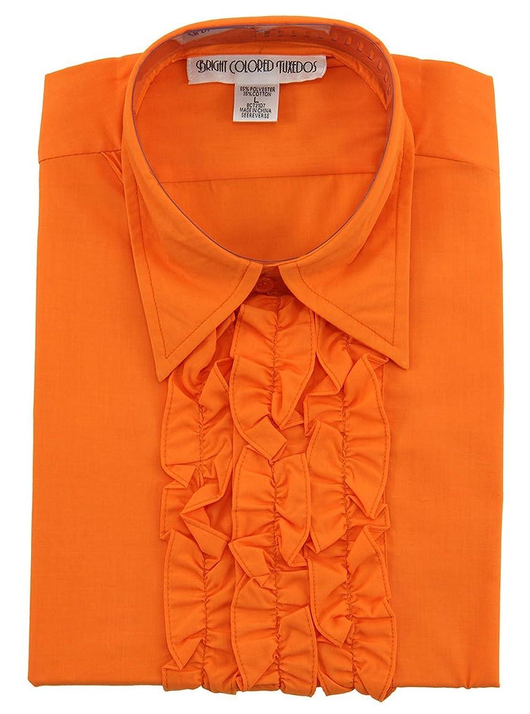 Ruffled Tuxedo Shirt Costume Orange Ruffled Tuxedo Shirt