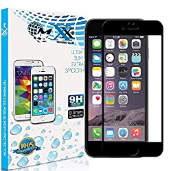 MXx iPhone 6, Premium Tempered Glass Screen Protector, Screen Protector Tempered Glass- Hd Clarity- 9H Hardness- 2.5D- 0.3mm Thickness- Slim- Anti Shocks- Scratches- Resistance Against Smudges And Finger Prints. 99.99% Touch-