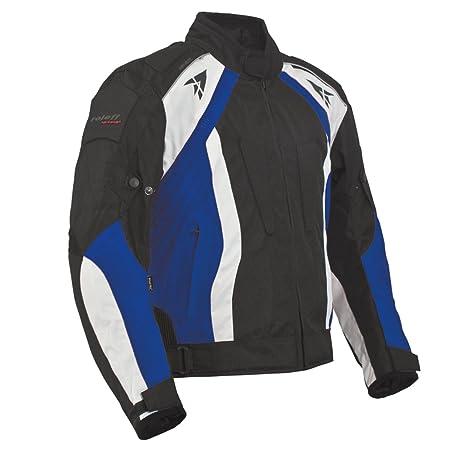 Roleff Racewear 2035 Blouson Moto Rhodes, Noir/Bleu, XL