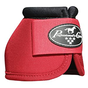 Professionals Choice Equine Ballistic Hoof Overreach Bell Boot, Pair (X-Large, Crimson Red)
