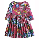 Joules Girls Dress Hot Pink Floral JnrMadlyn: Age 8