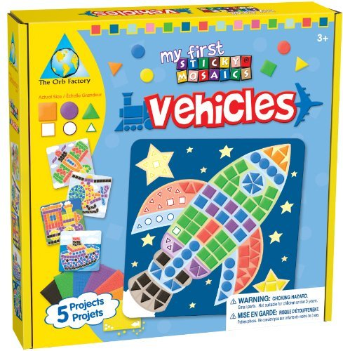 Bigger Sticky Mosaic Foam Tiles Are Easier For Little Ones To Handle - My First Sticky Mosaics® Vehicles