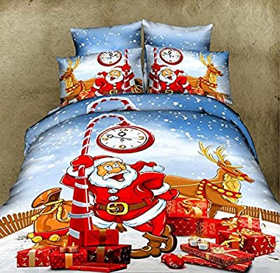 3D Effect Christmas Duvet Cover Bedding Sets 100% choice of 6 different designs