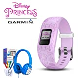 Garmin Vivofit jr. 2 Activity Tracker w/Bonus Deco Gear Kids Safe Ears Headphones (Color: Disney Princess (Purple))
