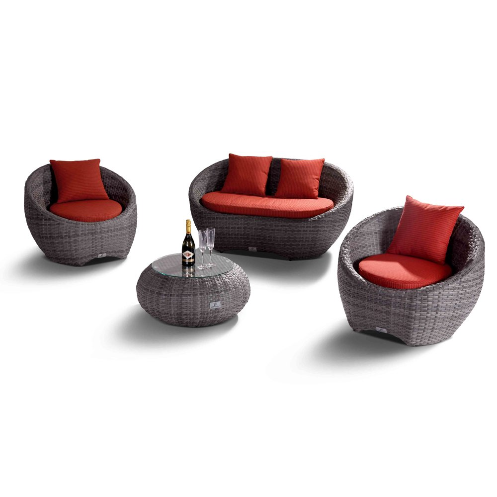 nikkigarden sofa set porto grau g nstig. Black Bedroom Furniture Sets. Home Design Ideas